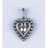 Pendant Small Fancy Heart Antique Silver